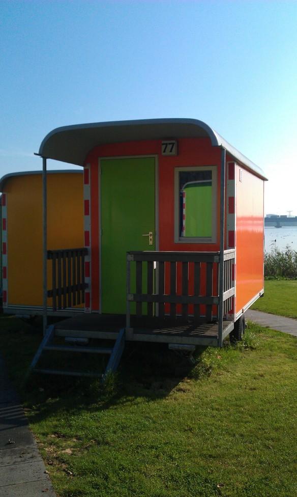 Amsterdam Zeeburg Camping – ever slept in a Wagonette?