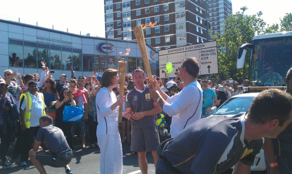 Two of the London 2012 Torch Bearers